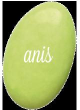 Dragées Chocolat Vert Anis 1 kg