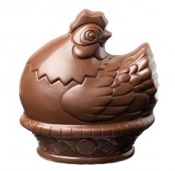 Figurine Poule Chocolat Lait